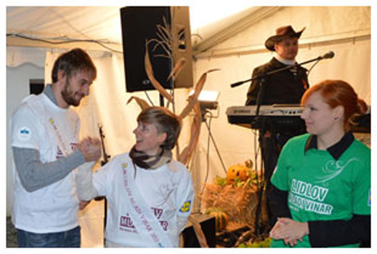 Zmagovalna ekipa natečaja Lidlov mladi vinar 2013